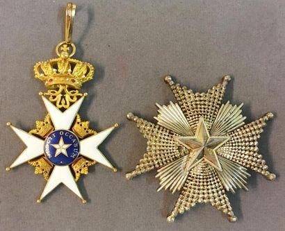 Suède - Ordre de l'Étoile du Nord, fondé...