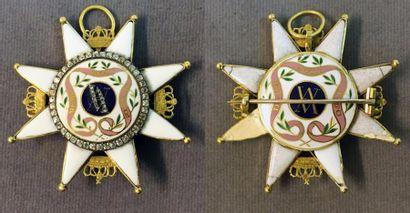 Suède - Ordre de l'Amarante, fondé en 1653,...