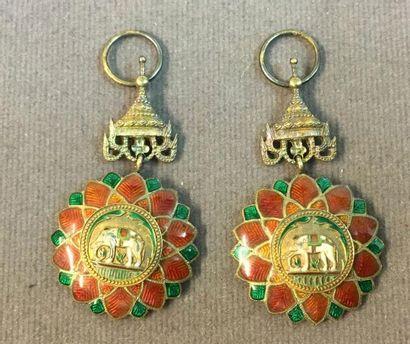 Thaïlande - Ordre de l'Éléphant Blanc, organisé...