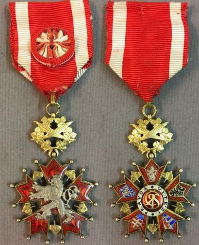 Tchécoslovaquie - Ordre du Lion Blanc, fondé...