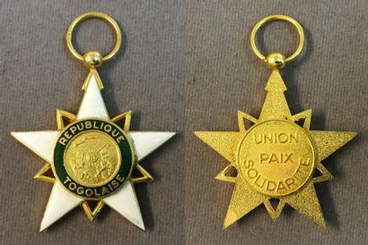Togo - Ordre du Mono, fondé en 1961, étoile...