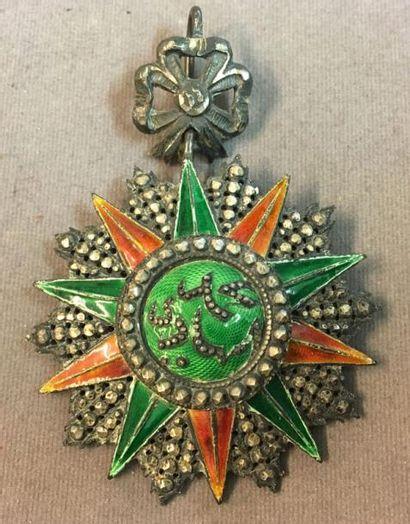 Tunisie - Ordre du Nichan al Iftikhar, règne de Mohamed el Hedi Bey (1902-1906),...