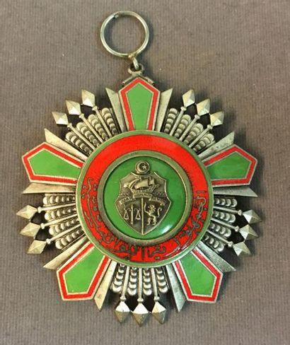 Tunisie - Ordre de la République, bijou de grand-croix du second modèle (après 1963)...