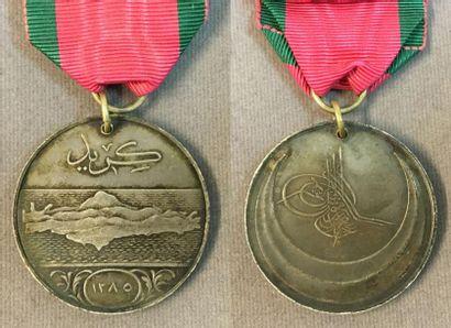Turquie - Médaille de la campagne de Crète,...