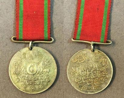Turquie - Médaille Lyakat en argent avec...