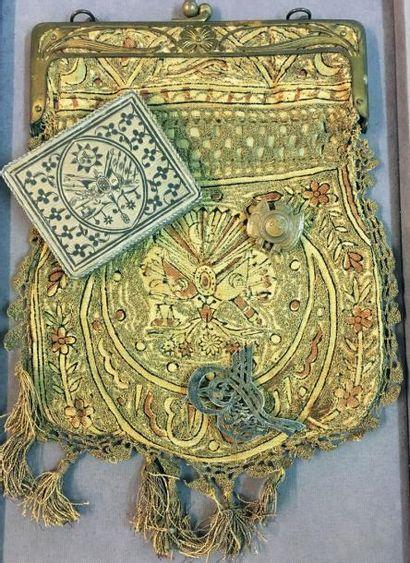 Turquie - Souvenirs de l'empire Ottoman: broche en argent ajouré et ciselé figurant...