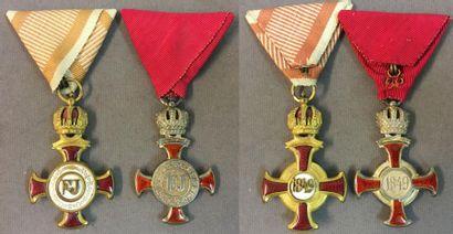 Autriche-Hongrie - Croix du mérite civil,...