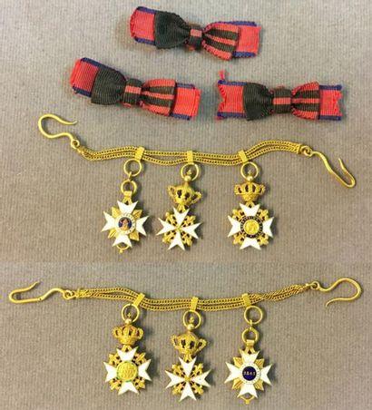 Vatican - Chaînette de gala en or à deux...