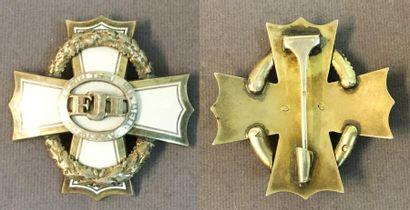 Autriche-Hongrie - Croix de guerre pour mérite civil, instituée en 1916, croix de...