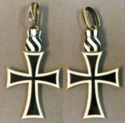 Autriche-Hongrie - Ordre Teutonique, fondé vers 1198, croix de chevalier prieur...