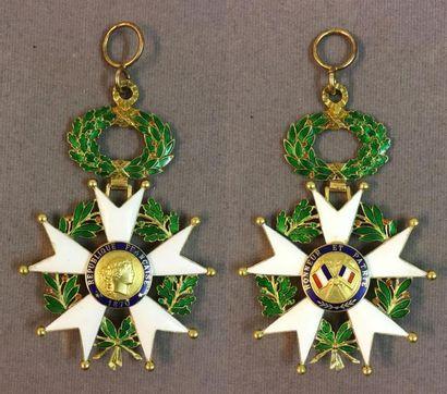 Légion d'honneur - IIIe République, bijou de commandeur légèrement réduit en or...