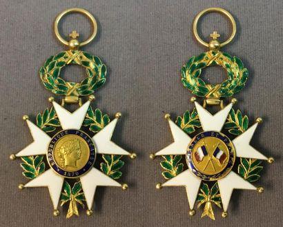 Légion d'honneur - IIIe République, projet pour une étoile d'officier en or et émail,...