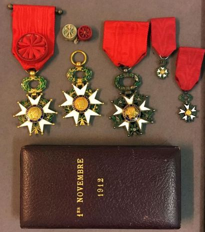 Légion d'honneur - IIIe République, lot de...