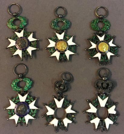 Légion d'honneur - Lot de six étoiles de...
