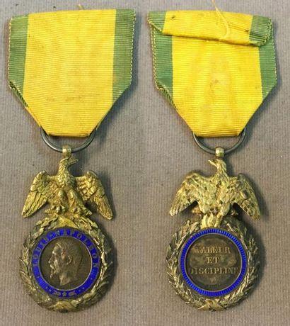 Médaille Militaire, Second Empire, en argent,...