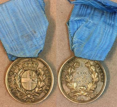 Royaume de Sardaigne - Médaille de la Valeur...