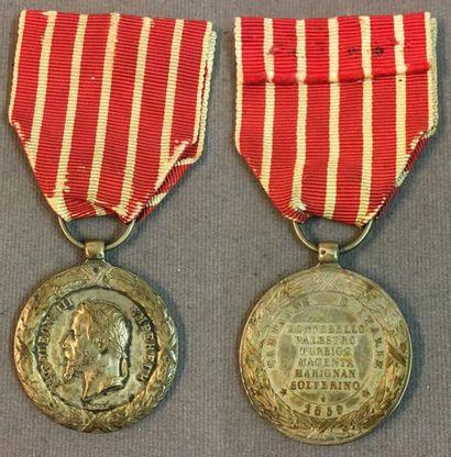 Médaille d'Italie 1859, modèle de Barre en...