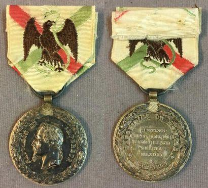 Médaille du Mexique 1862-1867, en argent...