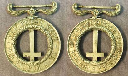 États Pontificaux - Médaille Pro petri Sede...
