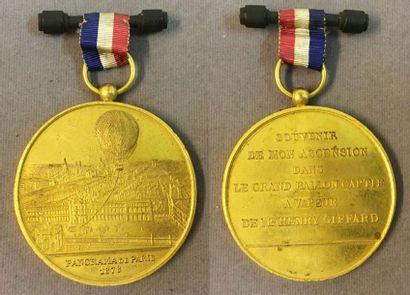 Panorama de Paris 1878, grande médaille en...