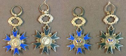 Ordre National du Mérite, lot de deux étoiles...
