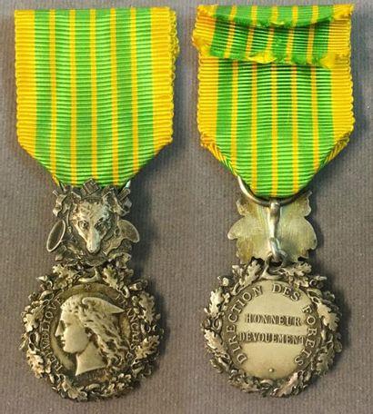 Médaille d'honneur des Eaux et Forêts, deuxième...