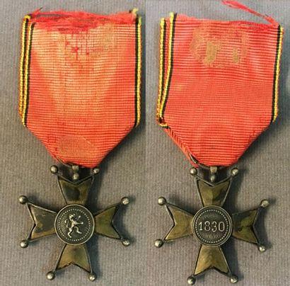 Belgique - Croix de fer, instituée en 1833,...