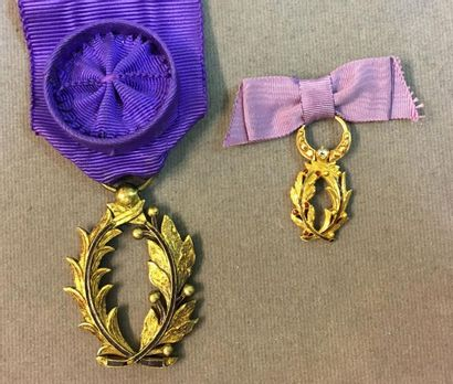 Ordre des Palmes académiques, palmes d'Officier...