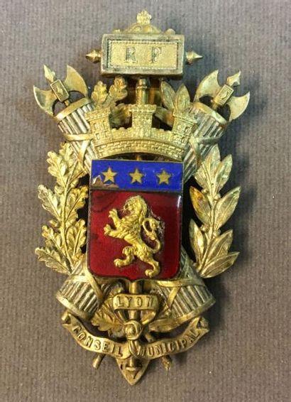 Lyon - Insigne de membre du Conseil Municipal...