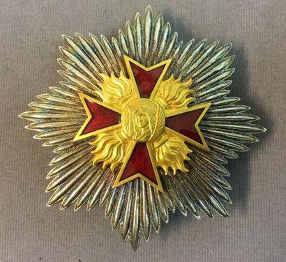 Ordre de Sainte-Barbe, plaque de grand-croix...