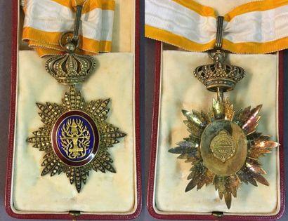 Cambodge - Ordre Royal du Cambodge, fondé en 1863, bijou de commandeur, modèle de...