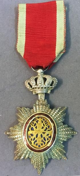 Cambodge - Ordre Royal du Cambodge, insigne de chevalier, fabrication locale en...
