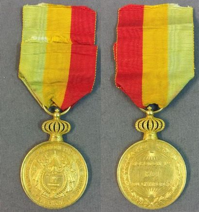 Cambodge - Médaille d'or du règne de Norodom...