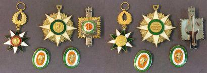 Côte d'Ivoire - Lot de trois: ordre du Mérite...