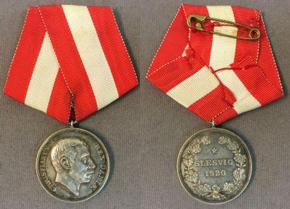 Danemark - Médaille commémorative du Schleswig,...