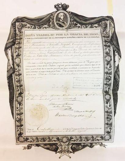 Espagne - Ordre de Charles III, important...