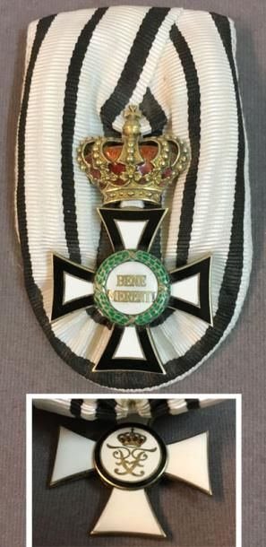 Allemagne, Roumanie, maison de Hohenzollern - Ordre princier Bene Merenti, fondé...