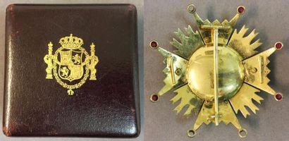 Espagne - Ordre d'Isabelle la Catholique, fondé en 1815, plaque de grand-croix,...