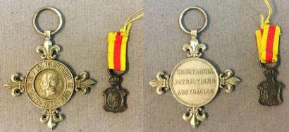 Espagne - Médaille des Volontaires de Cuba,...