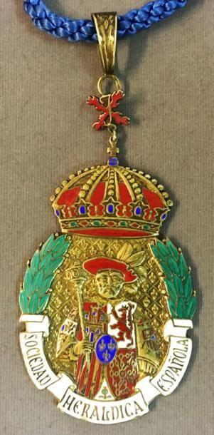 Espagne - Société héraldique espagnole, insigne...