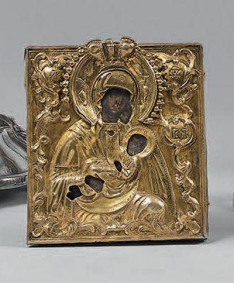 Icône représentant la Vierge et l'Enfant...