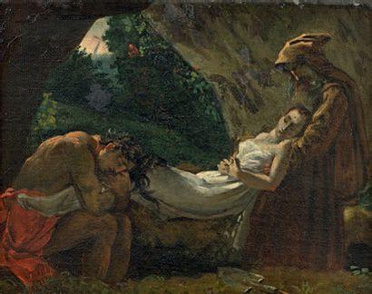 École Française du XIXe siècle La mort d'Atala, d'après la composition de Girodet...
