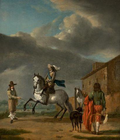 ÉCOLE HOLLANDAISE du XVIIe siècle, entourage de BRAEDEL