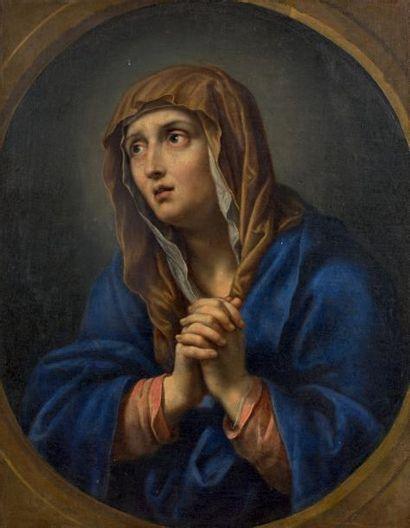 ÉCOLE FRANÇAISE du XVIIIe siècle, d'après Pierre MIGNARD Christ de douleur à la couronne...