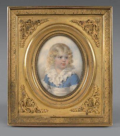 Jean-Baptiste ISABEY (1767-1855) Portrait de Napoléon-François-Joseph-Charles Prince...