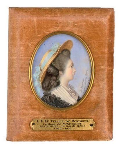 Alphonse BOURDIN (actif de 1841 à 1881) Portrait de L. F. Le Tellier de Montmirail,...