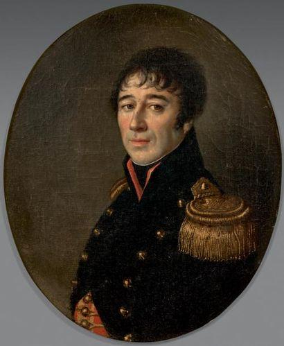 Alexandre DUBOIS (actif au début du XIXe siècle) Portrait de Gérard Lacuée, colonel...