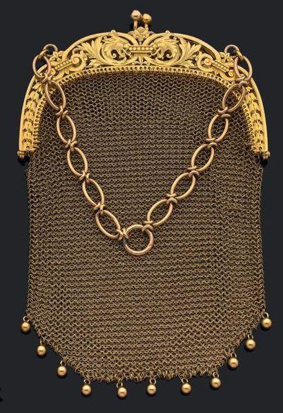 Petit sac cotte de mailles en or jaune 750...