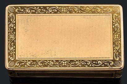 Boîte rectangulaire en or jaune 750 millièmes...