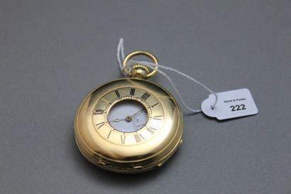 Montre de poche demi-savonnette en or jaune...